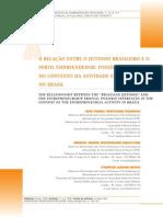 A Relação Entre o Jeitinho Brasileiro e o Perfil Empreendedor- Possiveis Interfaces No Contexto Da Ativ Empreend