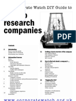 Marketing - How to Research Companies