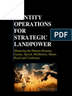Identity Operations for Strategic Landpower