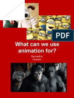 what can we use animation for