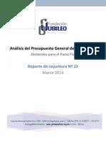 Analisis PGE 2014 Fundacion Jubileo