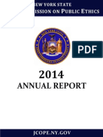 New York State Public Ethics 2014 Annual Report Final