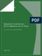 impacto económico minería peru