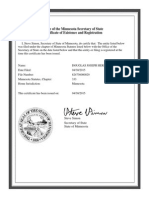 2015 Official Certificate of Existence and Registration - Assumed Name Cerificate - Filed 4-30-2015