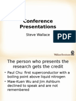 Speech D - How to Present a Paper at an Academic Conference