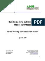 Le rapport de l'AMO sur la modernisation de la police