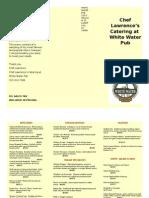 Catering Menu 2015