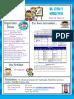 week 34 newsletter
