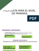 Propuesta Para El Nivel de Primaria