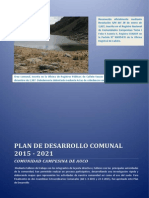 Plan de Desarrollo de la Comunidad Campesina de Auco 2015-2021