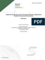 Analisis del Modelo Europeo por excelencia mediante Ecuaciones Estructurales