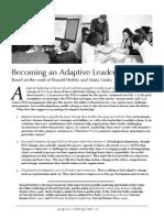 Becoming an Adaptive Leader