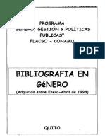 BIBLIOGRAFIA EN GENERO FLACSO