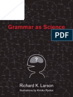 Larson, R. (2010) Grammar as Science