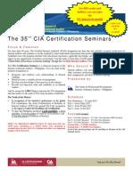 35th CIA Seminar Series Registration