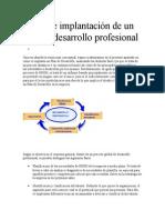 Diseño e Implantación de Un Plan de Desarrollo Profesional