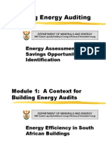 Building Energy Auditing