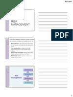 Lecture 2.5. Risk Management