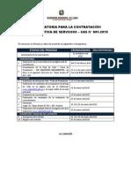 Cronograma Gobierno Regional