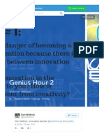 aussieed twitter chat 26th april 2015 genius hour 2 reduce