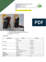 Mastech M266F AC Clamp Meter