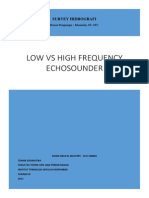 Low Versus High Frequencies Echosounder