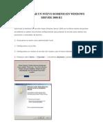 Como Crear Un Nuevo Dominio en Windows Server 2008 r2