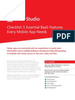 Essential BaaS Features for Mobile - White Paper