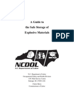 Safe Storage of Explosive Materials