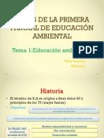 Antes de La Primera Parcial de Educación Ambiental