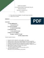 Model Subiect Clasa 8