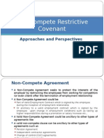 Approaches to Non-Compete Restrictive Covenant