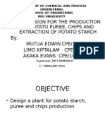 Production of Potato Puree,Chips n Extraction Potato Starch