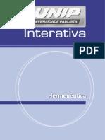 Hermeneutica Unidade I