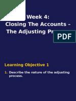 Week4.ClosingTheAccounts.TheAdjustingProcess