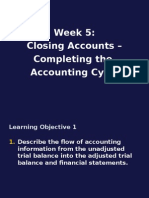 Week5.ClosingTheAccounts.CompletingTheAccountingCycle