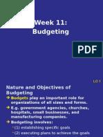 Week11.Budgeting