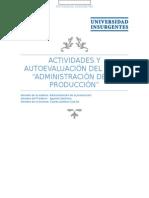 Actividades y Autoevaluación Admin