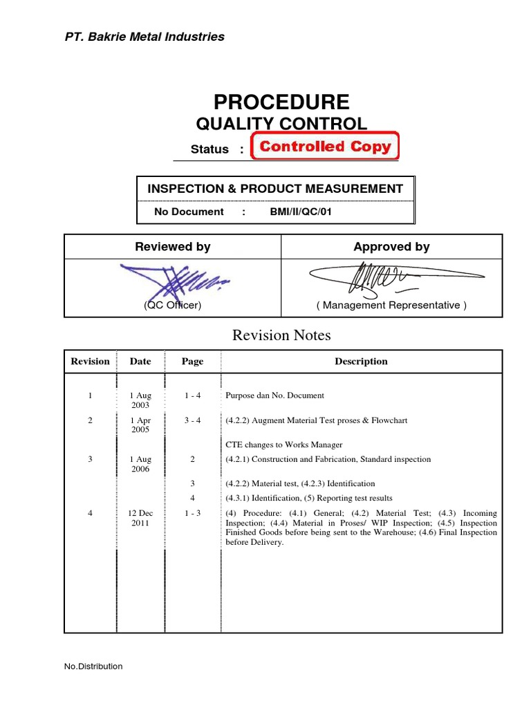 Qc procedure industries technology geenschuldenfo Image collections