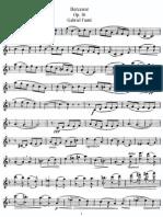 Fauré - Berceuse