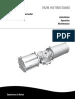 IOM Actuator RG Series