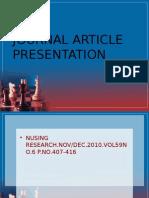 Journal presentation