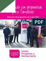 Algunas propuestas del grupo municipal UPyD Tomelloso en 2014
