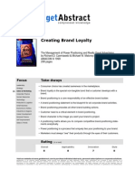 Summary - Get Abstract Creating Brand Loyalty E 03