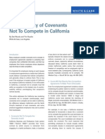 Enforceability of Covenants Not to Compete in California