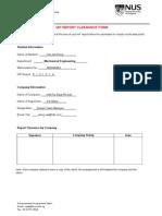 Iap Report Clearance Form