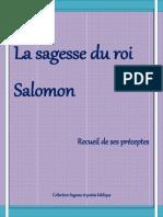La Sagesse Du Roi Salomon