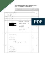 Skema Pemarkahan Peperiksaan Semester 1 Kertas 2 Matematik Tingkatan 4