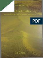 Franco Rella 'Desde el exilio. La creación artística como testimonio'