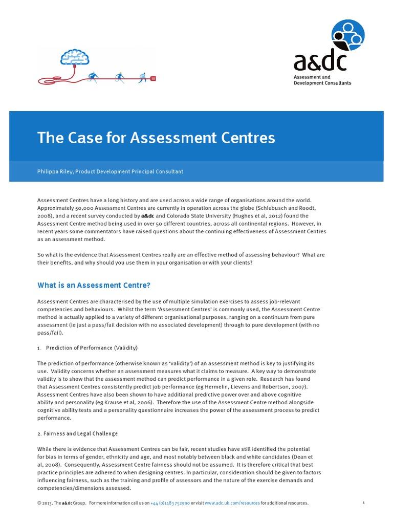 A Case for Assessment Center Method | Validity (Statistics